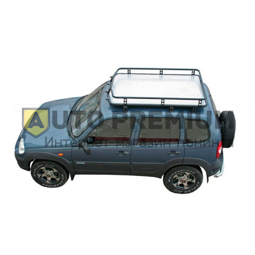 Багажник экспедиционный Трофи с алюминиевым листом на Шевроле Нива RS